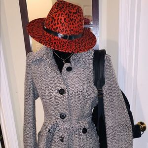 Accessories - Rust leopard print fedora